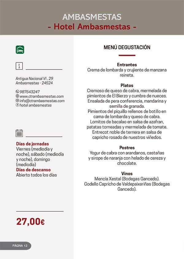 Las Jornadas Gastronómicas del Bierzo llegan a su 34 edición 2