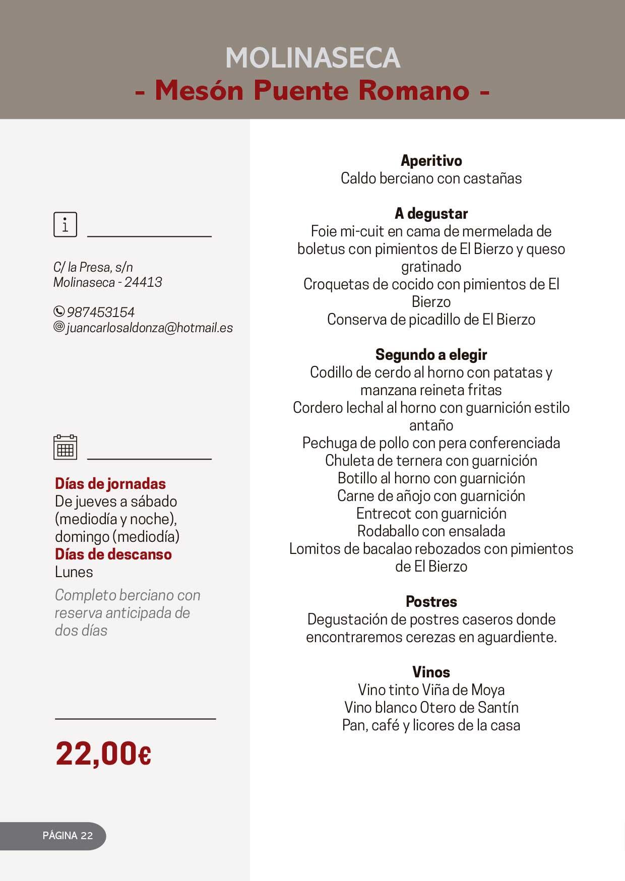 Las Jornadas Gastronómicas del Bierzo llegan a su 34 edición 35
