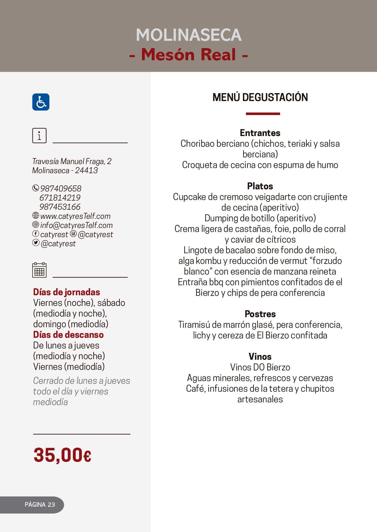 Las Jornadas Gastronómicas del Bierzo llegan a su 34 edición 36