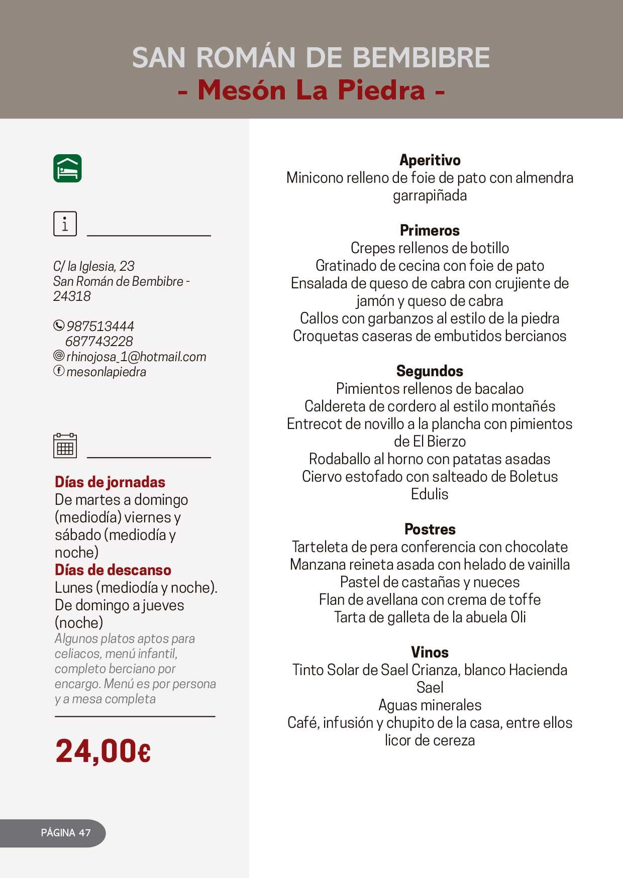 Las Jornadas Gastronómicas del Bierzo llegan a su 34 edición 30