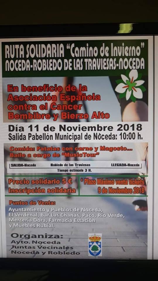 El Ayuntamiento de Noceda y la AECC de León organizan una ruta solidaria 2