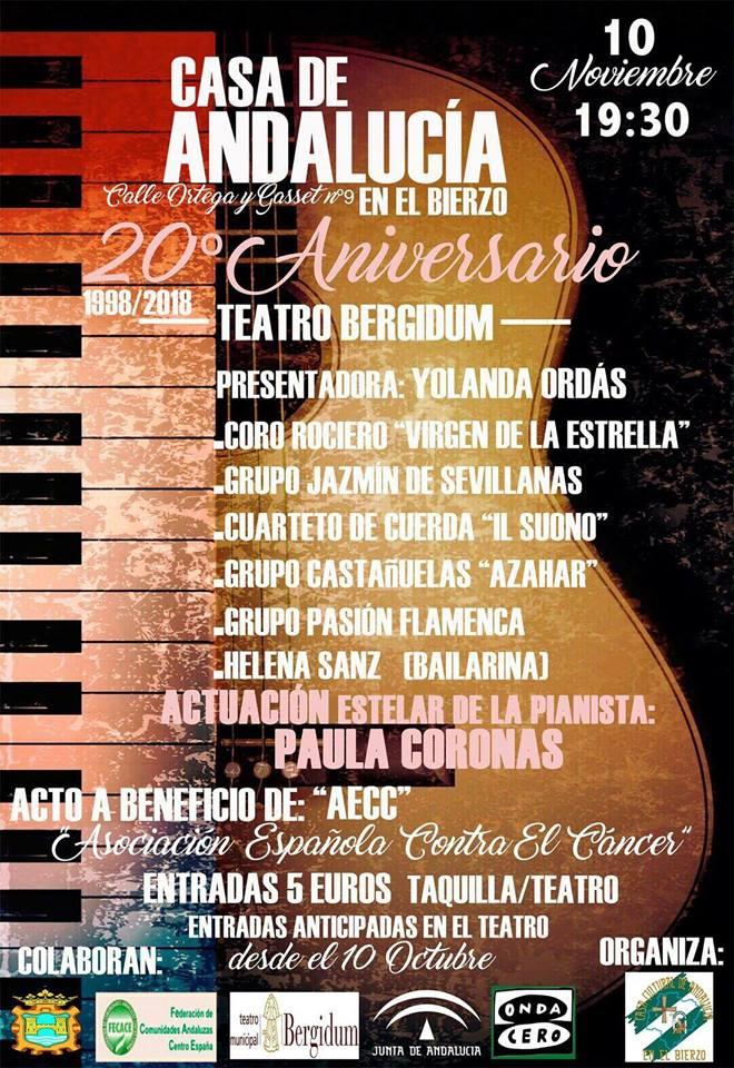 Gala 20 aniversario Casa Cultural de Andalucía en el Bierzo 2