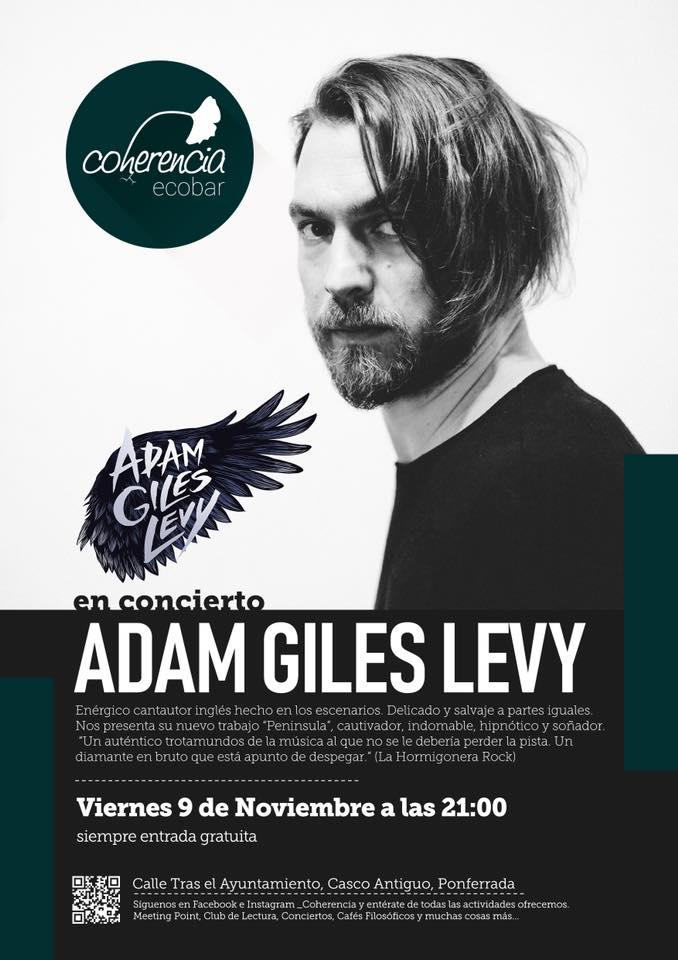 El británico Adam Giles Levy trae su Rock alternativo a la tarde del viernes en Coherencia Bar 2