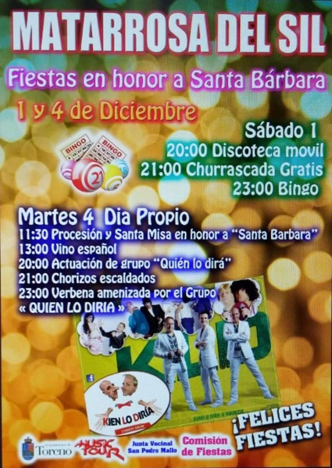 Grandes Fiestas de Santa Bárbara en Matarrosa del Sil 2