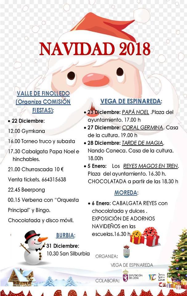 Programa de Navidad 2018 en Vega de Espinareda 2