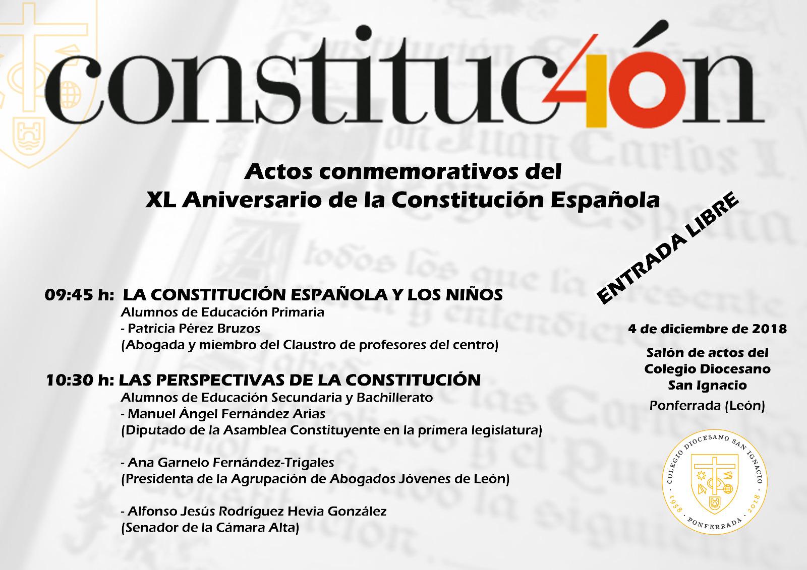 El Colegio San Ignacio celebra el martes, los 40 años de la Constitución Española 2