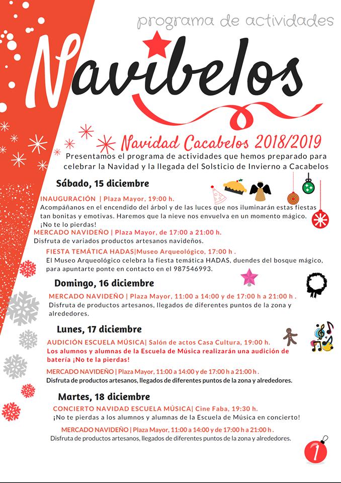 Navibelos 2018, actividades para las fiestas navideñas en Cacabelos 2