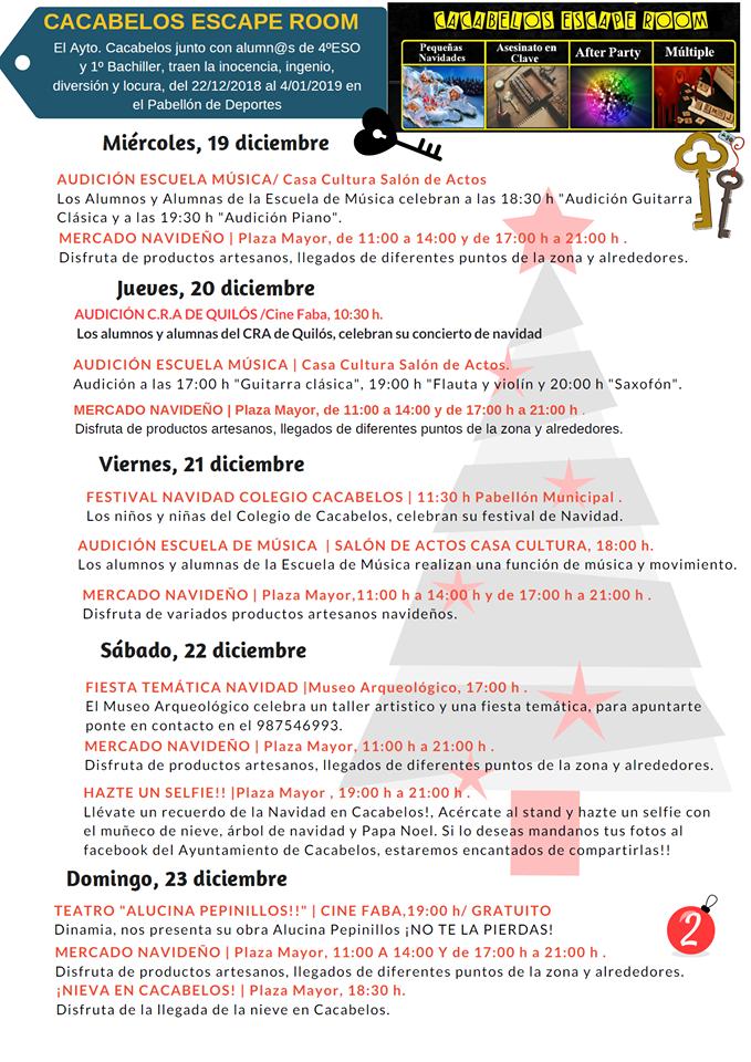 Navibelos 2018, actividades para las fiestas navideñas en Cacabelos 3