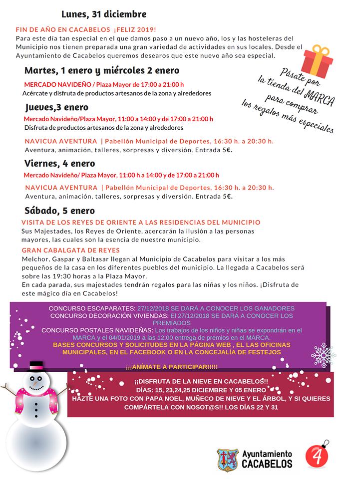Navibelos 2018, actividades para las fiestas navideñas en Cacabelos 4