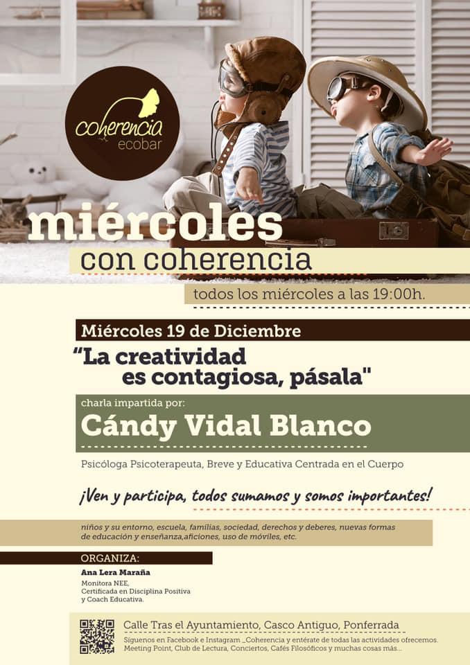 'La creatividad es contagiosa', charla de Cándy Vidal este miércoles en Coherencia Bar 2