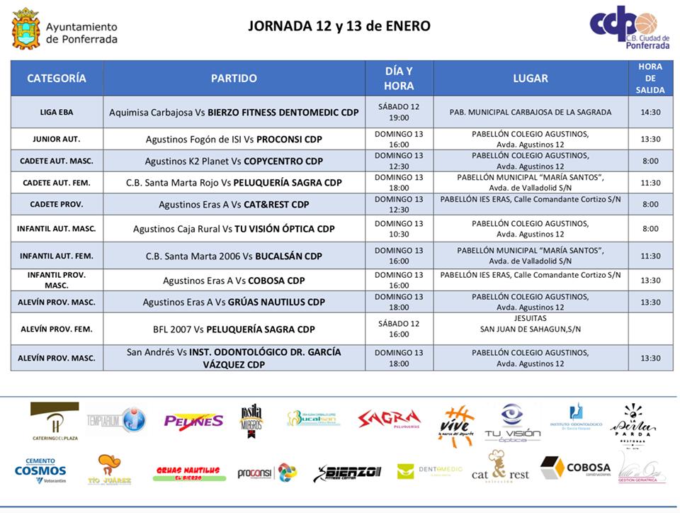 Planes de ocio para el fin de semana en Ponferrada y El Bierzo. 11 al 13 de enero 17