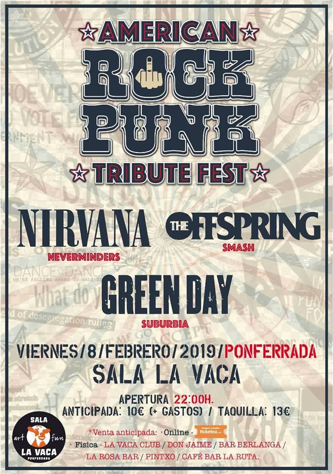 Festival de Tributos AMERICAN ROCK PUNK, tributo a las mejores bandas de los 90s 2