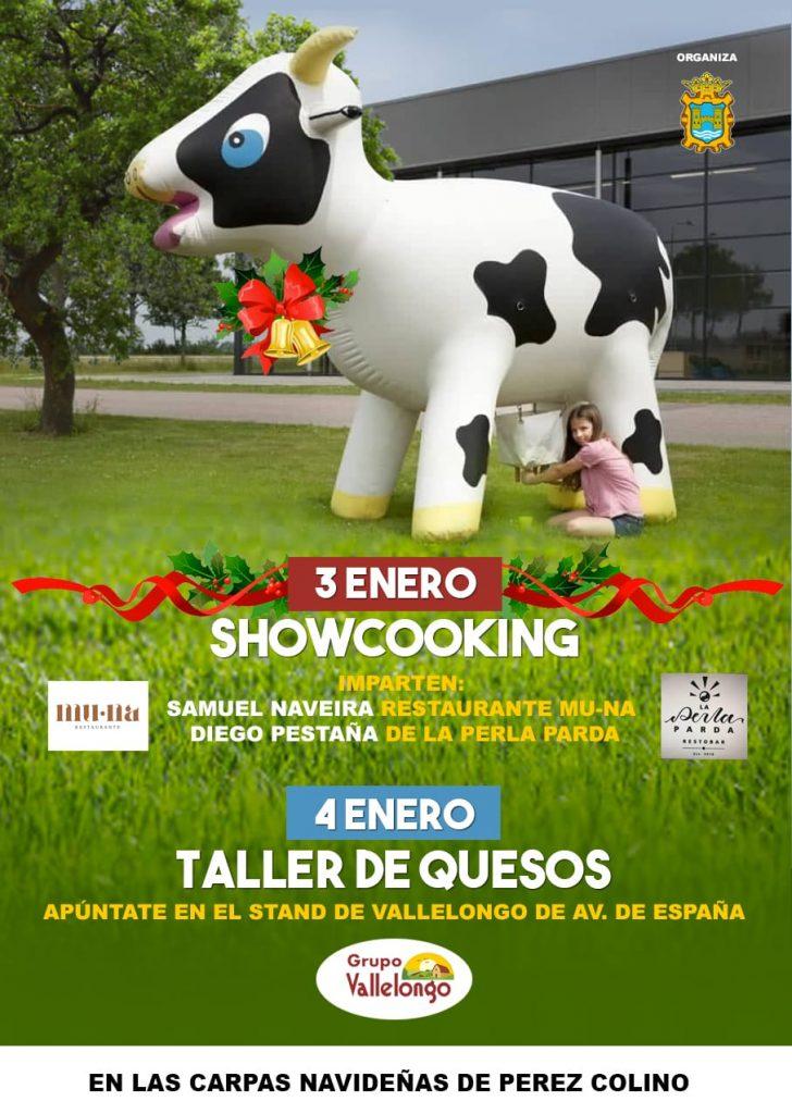 Taller de queso y 'showcooking' en el mercado navideño de Pérez Colino en Ponferrada 2