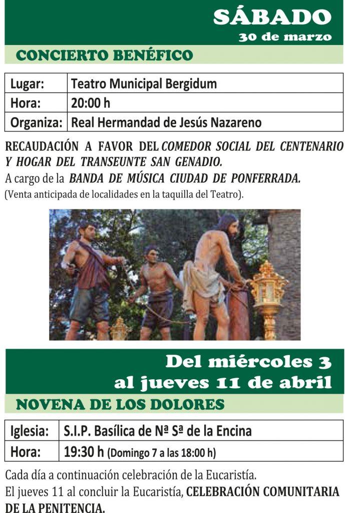 Semana Santa Ponferrada 2019. Programa y procesiones 3