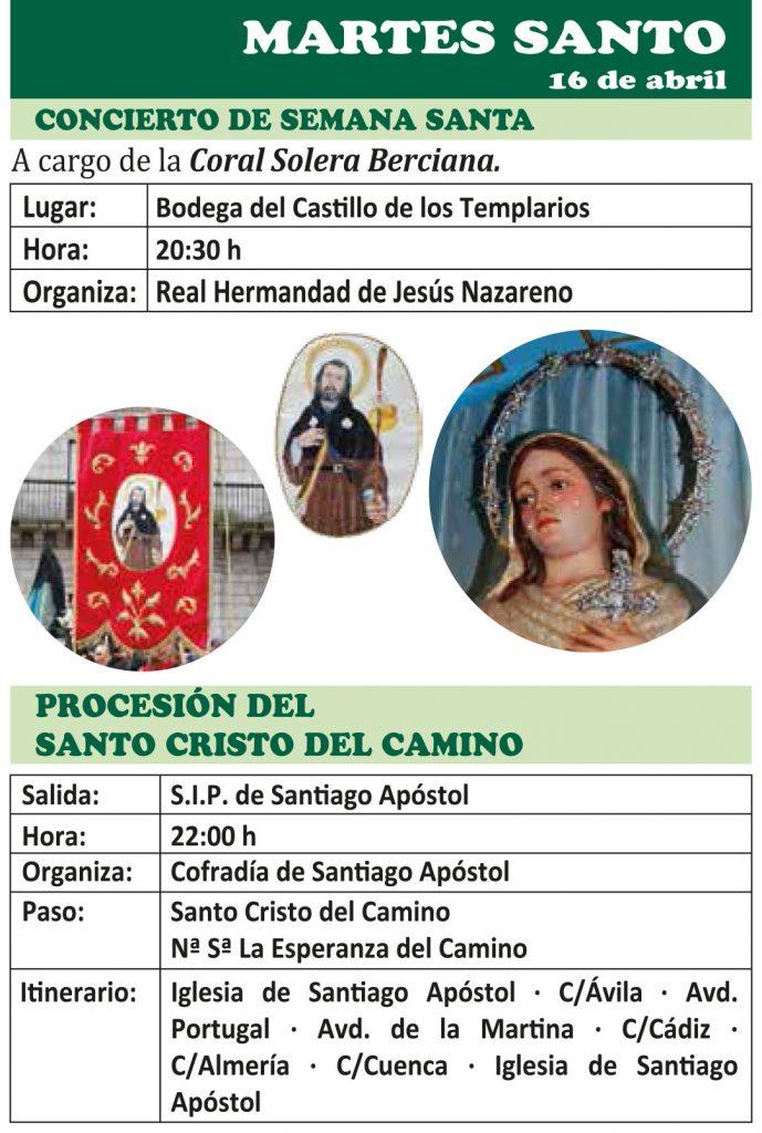 Semana Santa Ponferrada 2019. Programa y procesiones 14
