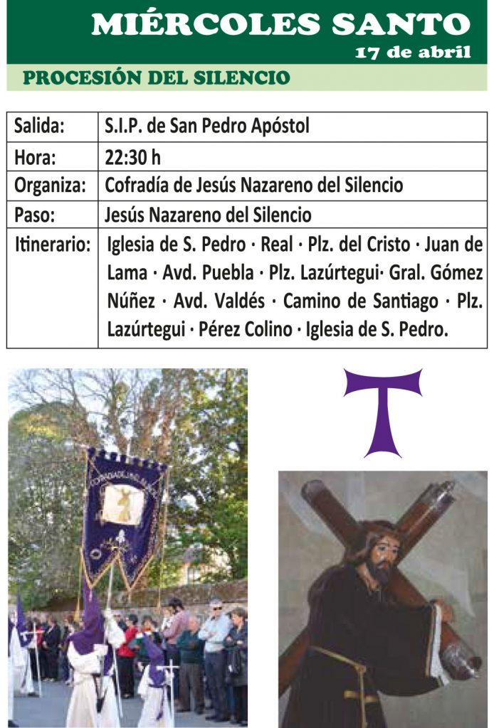 Semana Santa Ponferrada 2019. Programa y procesiones 15
