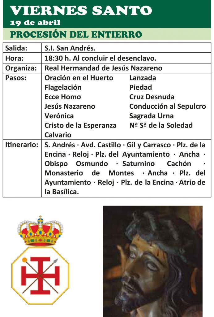 Semana Santa Ponferrada 2019. Programa y procesiones 21