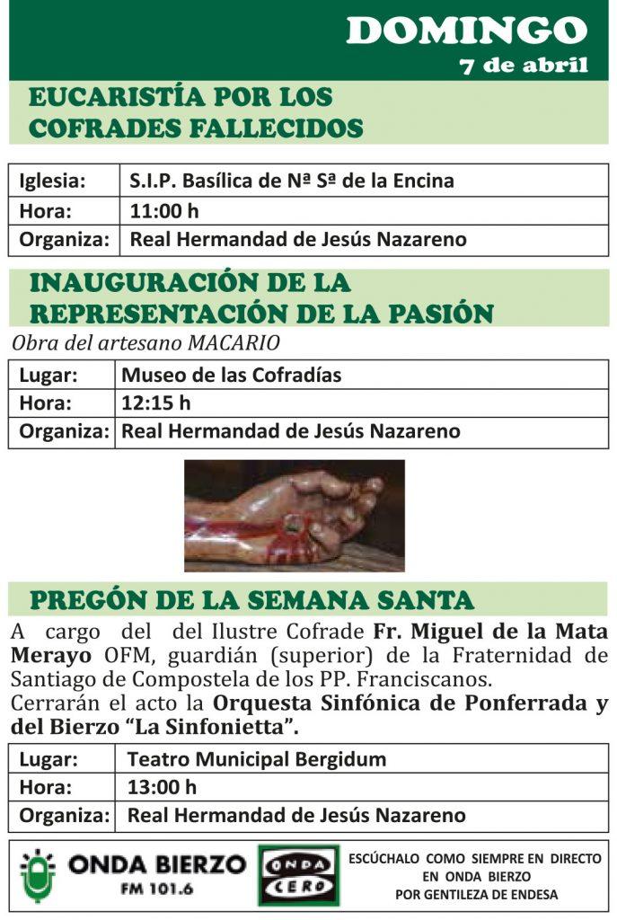 Semana Santa Ponferrada 2019. Programa y procesiones 6