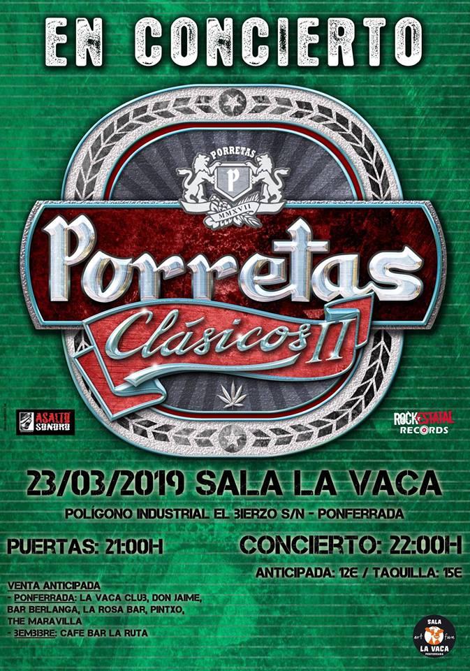 El sábado llegan 'Porretas' a Ponferrada para presentar Clásicos II 2