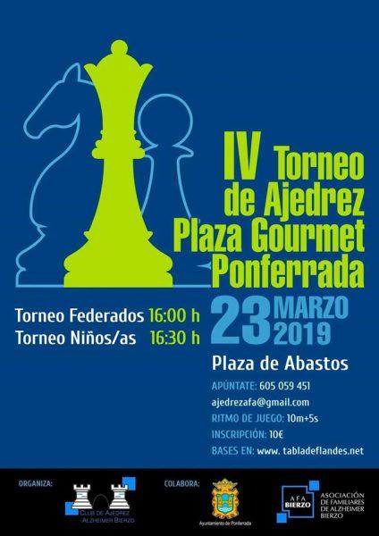 Plaza Gourmet organiza este sábado la 4ª edición del Torneo de Ajedrez 2