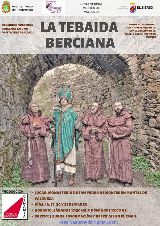 Visitas teatralizadas al Monasterio de Montes por La Tebaida Berciana 2