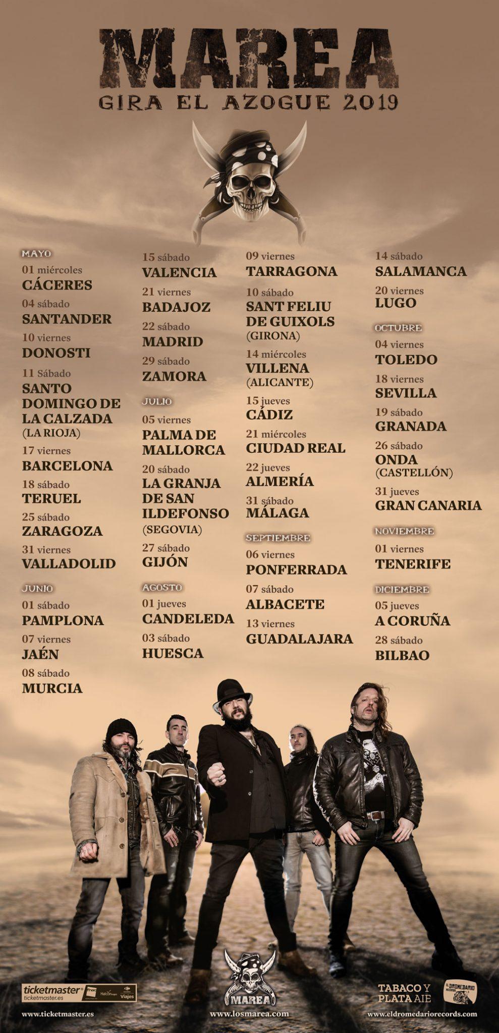 Marea ha vuelto y elige las Fiestas de la Encina 2019 de Ponferrada como una de sus citas para presentar 'El Azogue' su nuevo disco 2