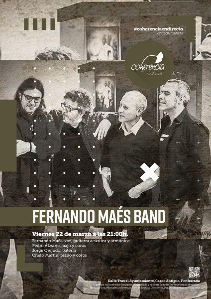 Concierto de Fernando Maes Band el viernes en el Coherencia Bar 2