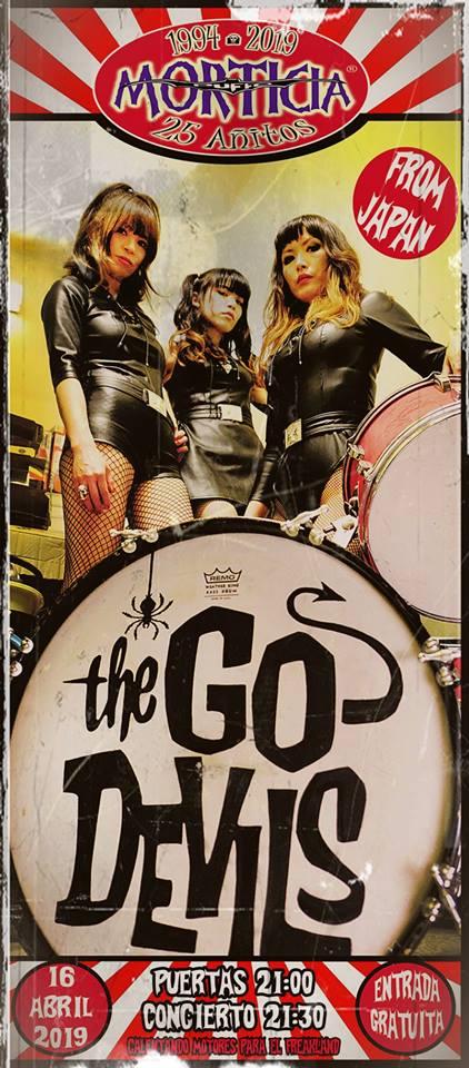 Las japonesas 'The Go Devils', el próximo martes en el Morticia 2