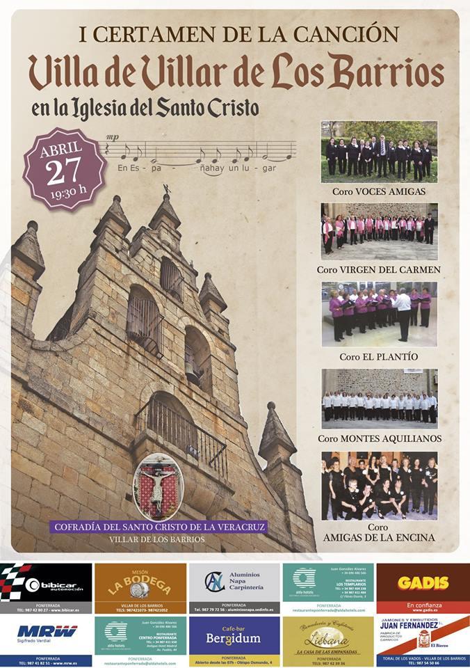 """Primera edición del Certamen de la Canción """"Villa de Villar de los Barrios"""""""