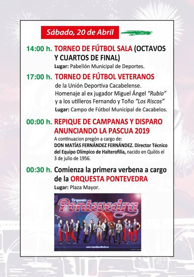 Programa de fiestas de la Pascua de Cacabelos 2019 6