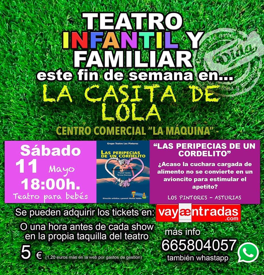 Teatro para bebés: 'Las peripecias de un cordelito' en La Casita de Lola 2