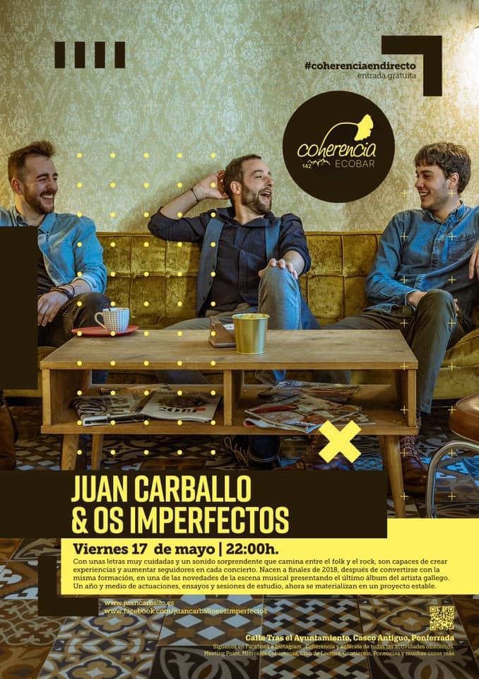 Doble concierto en Coherencia Bar: Kike M y Juan Carballo & Los Imperfectos 3