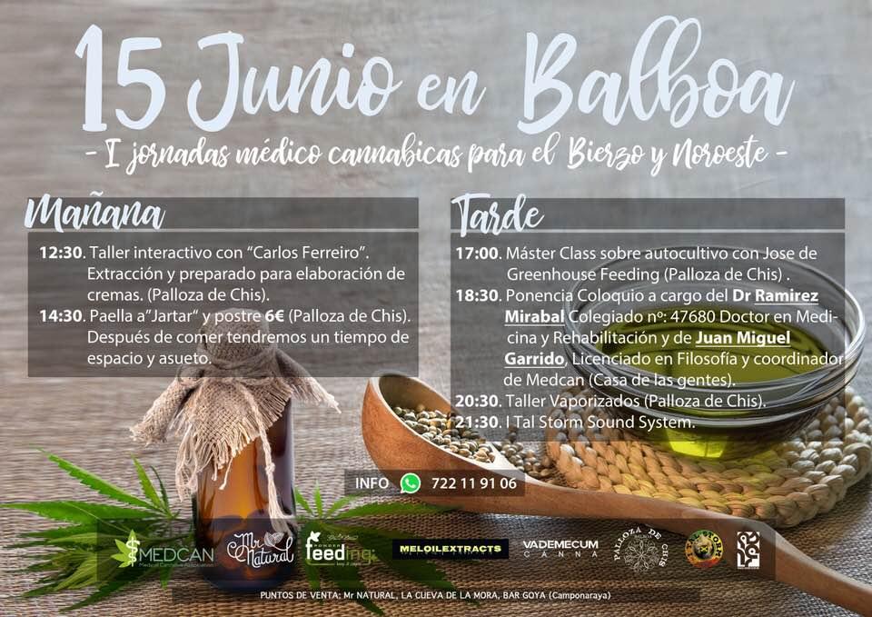 Balboa celebra las I Jornadas medico cannabicas 2