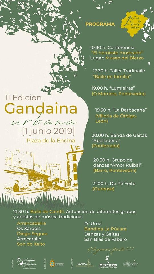 El sábado se celebra en la Plaza de la Encina de Ponferrada la II Gandaina urbana 2019 2