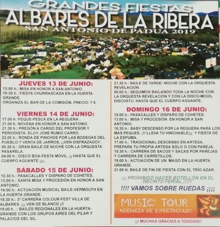 Grandes fiestas en Albares de la Ribera 2019 2