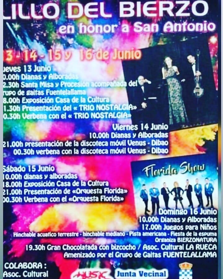 Fiestas en Lillo del Bierzo 2019 honor a San Antonio 2