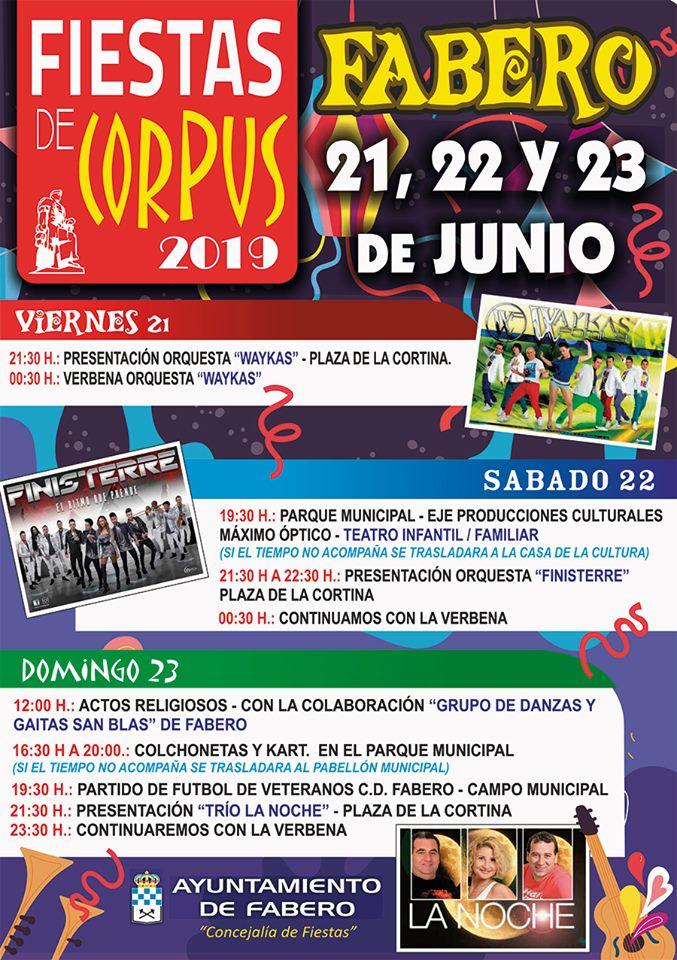 Fiestas del Corpus en Fabero 2019 2
