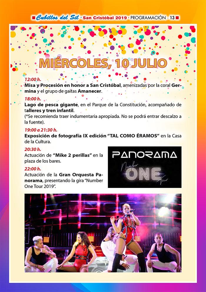 Fiestas de San Cristobal 2019 en Cubillos del Sil. Programa de actividades 3