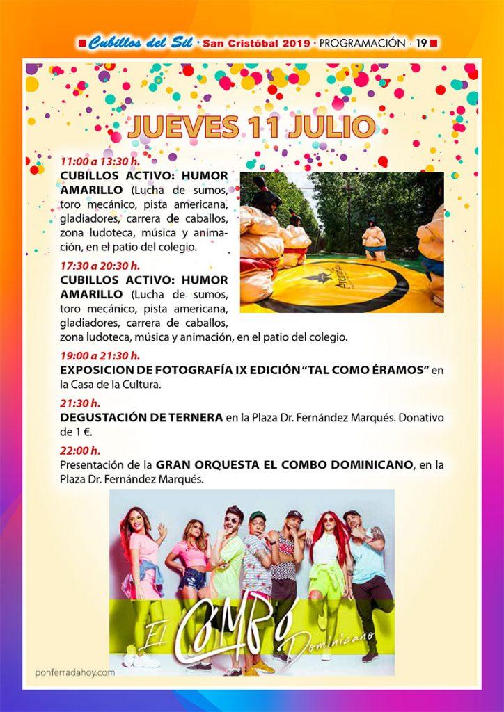 Fiestas de San Cristobal 2019 en Cubillos del Sil. Programa de actividades 4