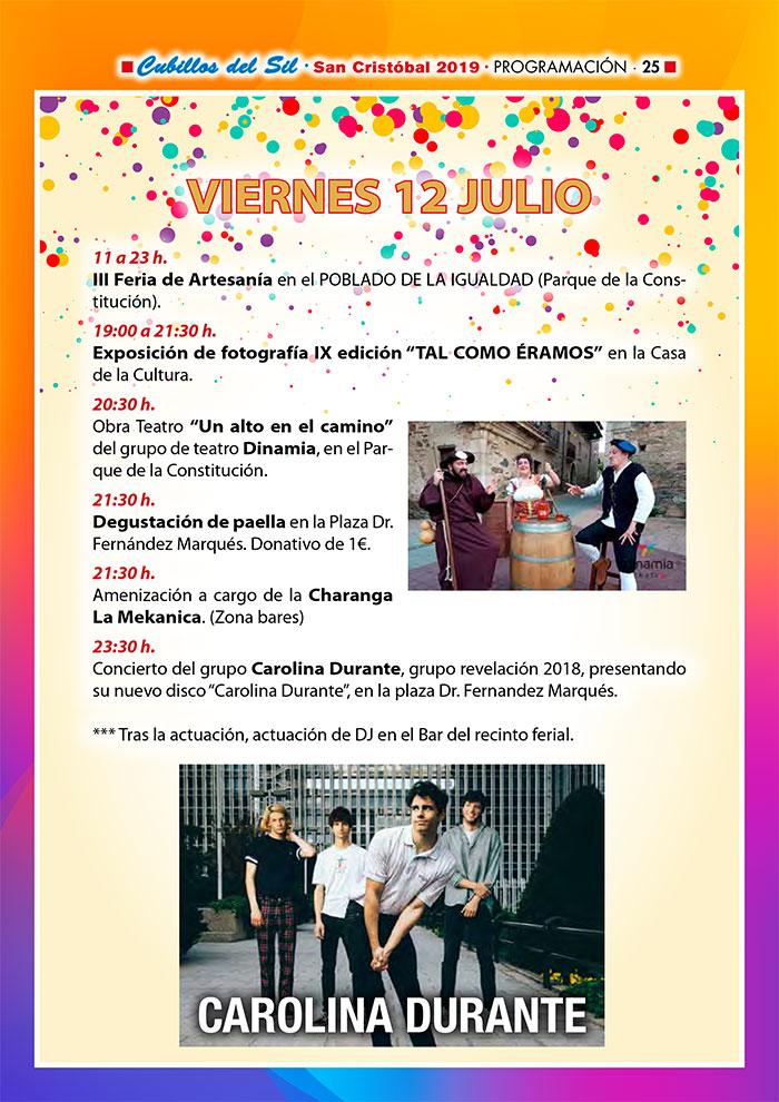 Fiestas de San Cristobal 2019 en Cubillos del Sil. Programa de actividades 5
