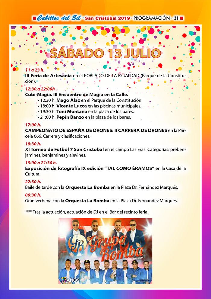 Fiestas de San Cristobal 2019 en Cubillos del Sil. Programa de actividades 6