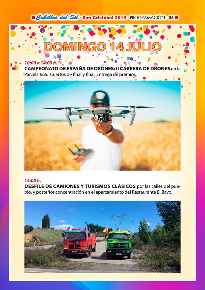 Fiestas de San Cristobal 2019 en Cubillos del Sil. Programa de actividades 7