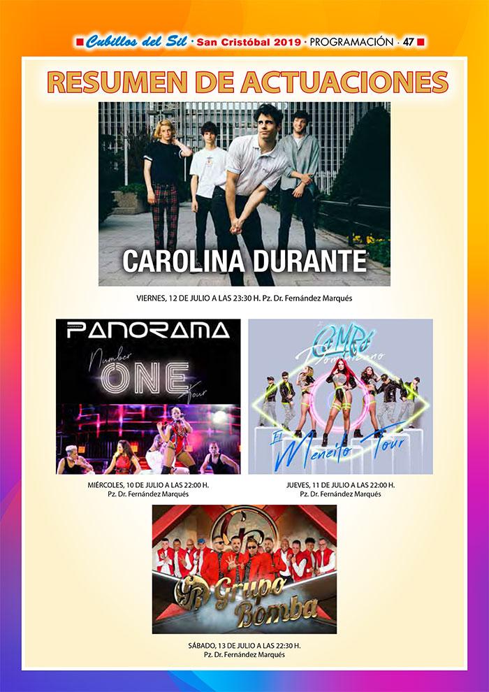 Fiestas de San Cristobal 2019 en Cubillos del Sil. Programa de actividades 8
