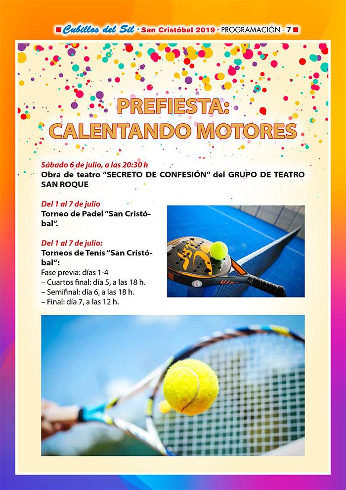 Fiestas de San Cristobal 2019 en Cubillos del Sil. Programa de actividades 2