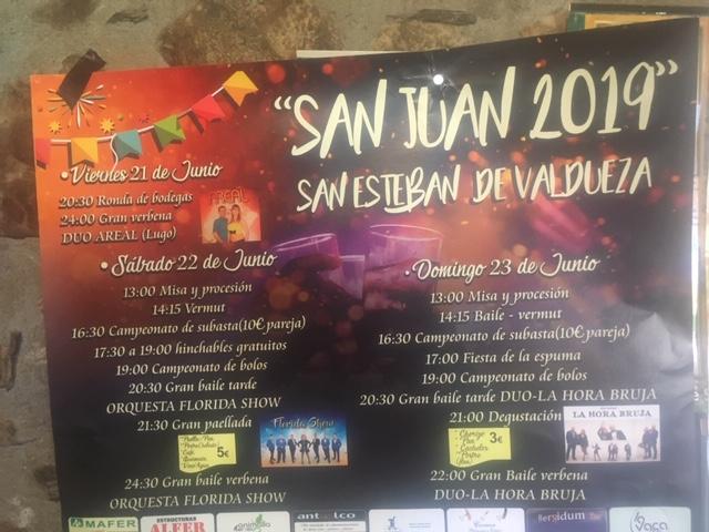 Grandes Fiestas de San Juan 2019 en San Esteban de Valdueza 2