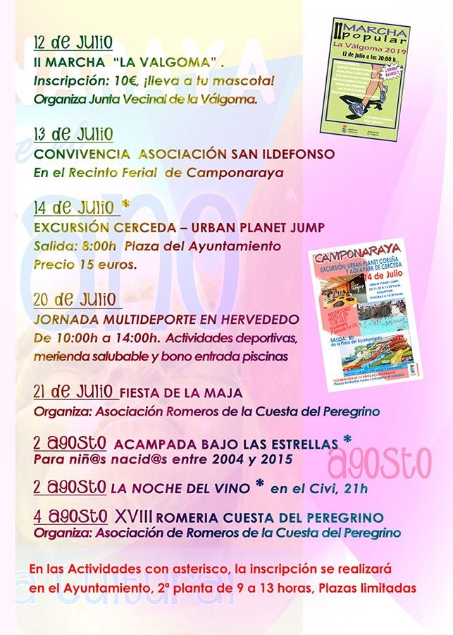 Camponaraya presenta las actividades encuadradas en el programa cultural 'Viva el Verano' 3
