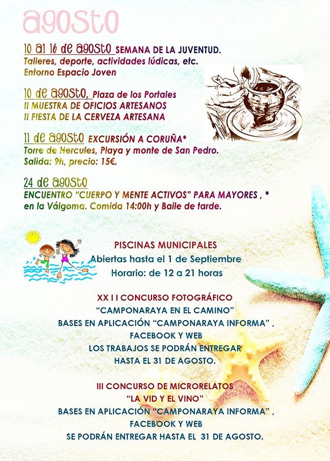 Camponaraya presenta las actividades encuadradas en el programa cultural 'Viva el Verano' 4