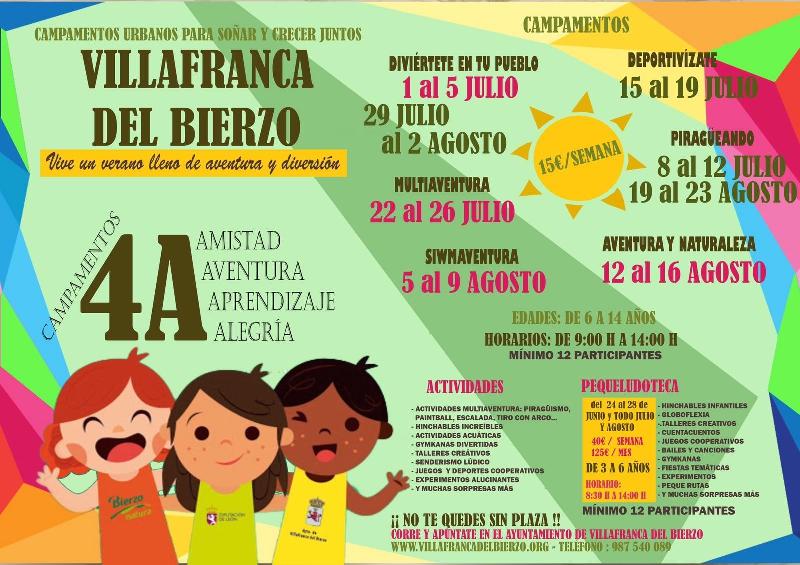 Campamentos y campus de verano 2019 en Ponferrada y el Bierzo 2