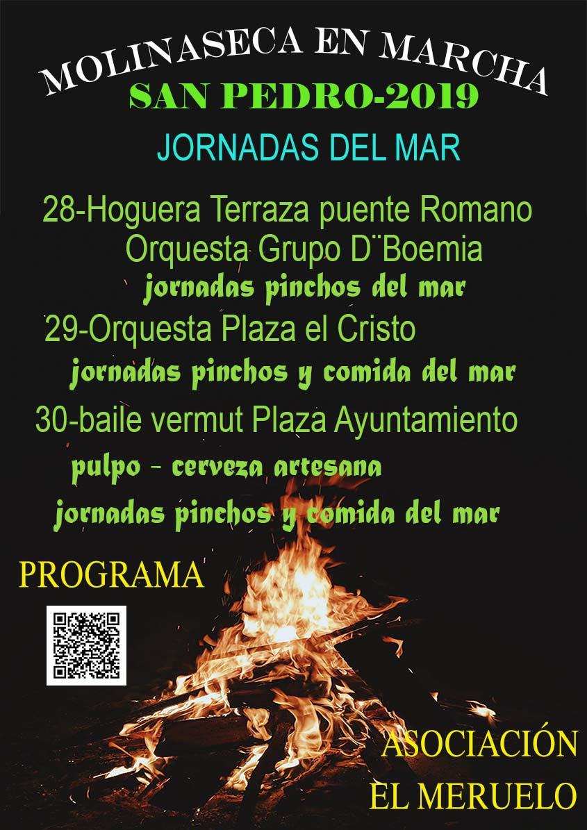 Molinaseca celebra la festividad de San Pedro con Jornadas del mar, música y hoguera 2