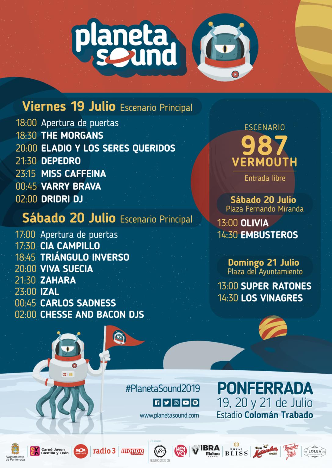 Conoce los horarios del Festival Planeta Sound 2